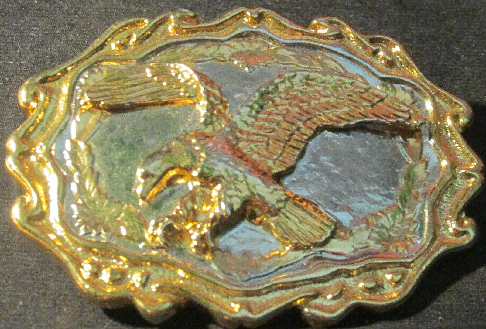 # 0313 Gürtelschnalle, Buckle, goldfarbener Rand, flying eagle, Adler, Beuteflug
