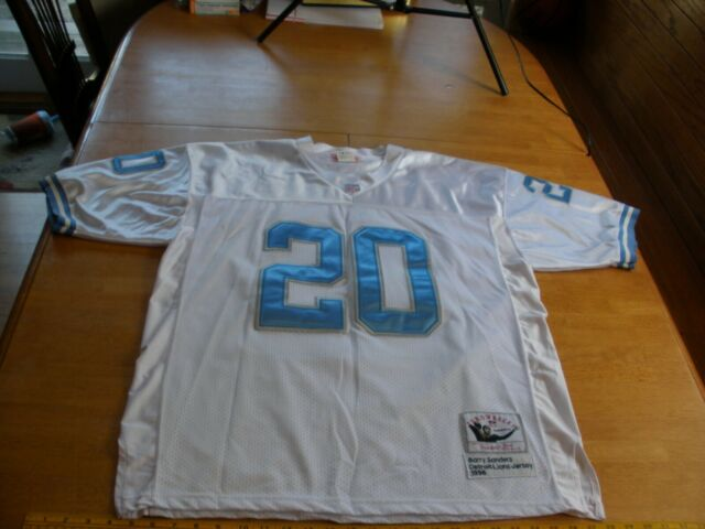 Barry Sanders Detroit Lions Mitchell   Ness Throwback jersey 1996 XL 50 sewn 69f8f1a15