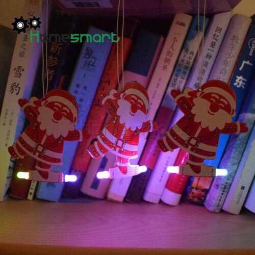 Full Color DIY Santa Christmas Tree Decoration Pendant Music Kit AHS