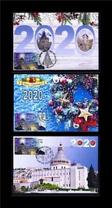 ISRAEL-STAMPS-2020-2021-CHRISTMAS-ATM-FROM-3-MACHINE-LABEL-SET-OF-MAXIMUM