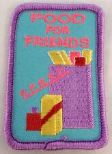 Girl Scout Gs Vintage Uniform Patch Food For Friends S.C.G.S.C. Food Drive #Gspp