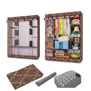 New High Quality Closet Storage Organizer Wardrobe Clothes Rack Space Saving