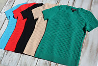 100% Cashmere Alex Marie Women's Sweater Pullover Short Sleeve S M L Xl $79