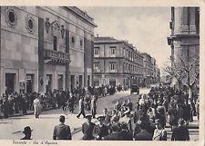 CARTOLINA DI TARANTO VIA D'AQUINO 1942 11-250