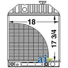 Radiator D3nn8005b Fits Ford New Holland 4200 4330 4340 4410 4500 7000 7100 7200