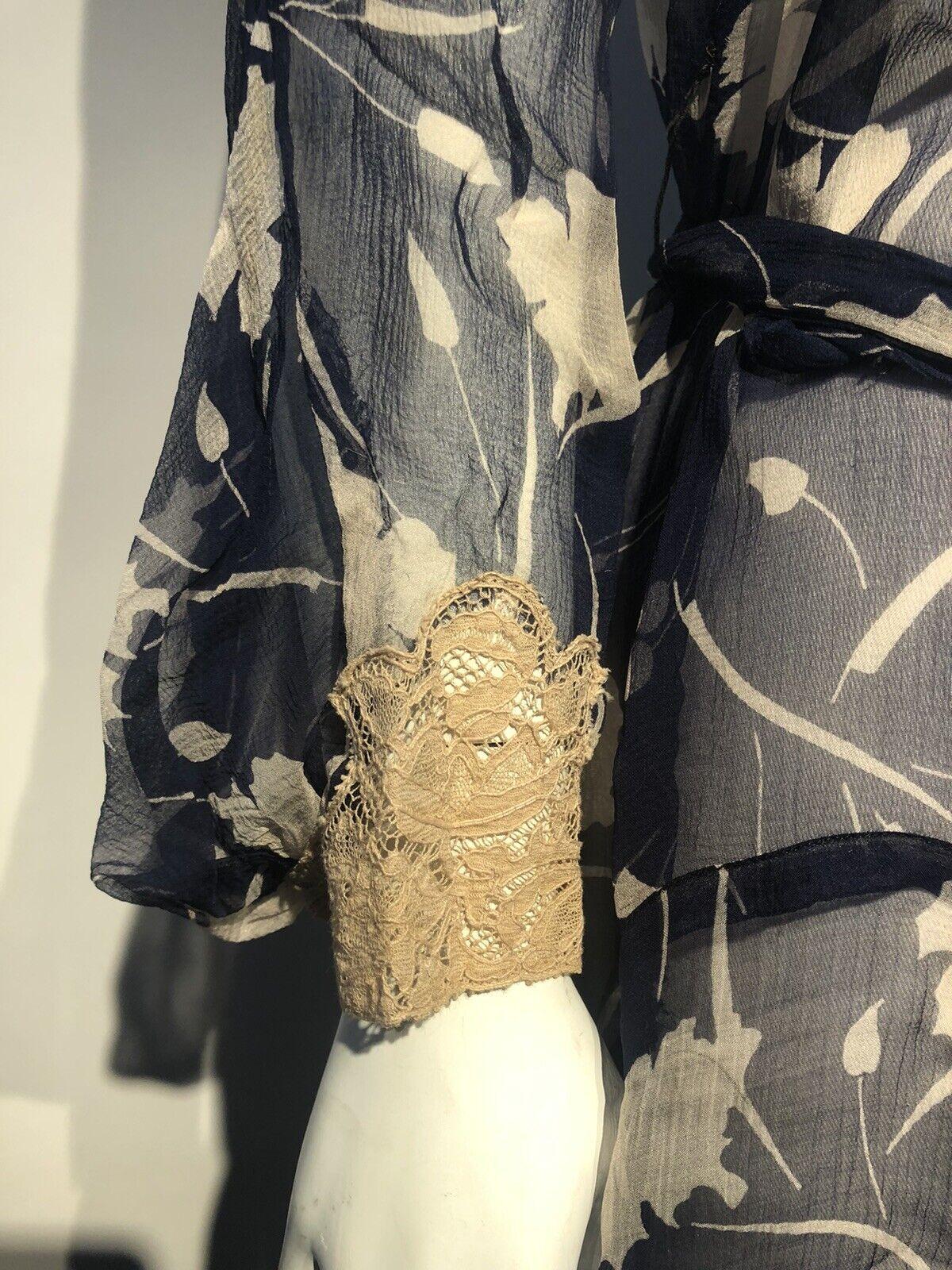 1920's Printed Silk Chiffon Dress  - image 6