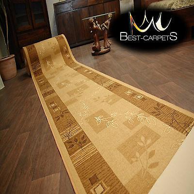 Stairs Width 67cm-100cm extra long AGADIR beige modern NON-slip Runner Rugs