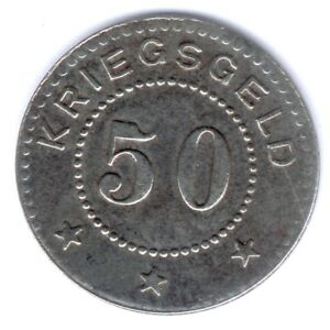 Stralsund-città di 50 Pfennig 1917 (ferro) Funck n. 523.5, SS/VZ