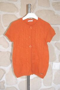 Gilet-sans-manches-orange-neuf-taille-8-ans-marque-NUCLEO-b