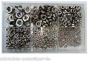 470-piezas-Surtido-Plano-rosca-HEXAGONAL-DIN-439-M3-hasta-M10-Acero-Inox-V2A