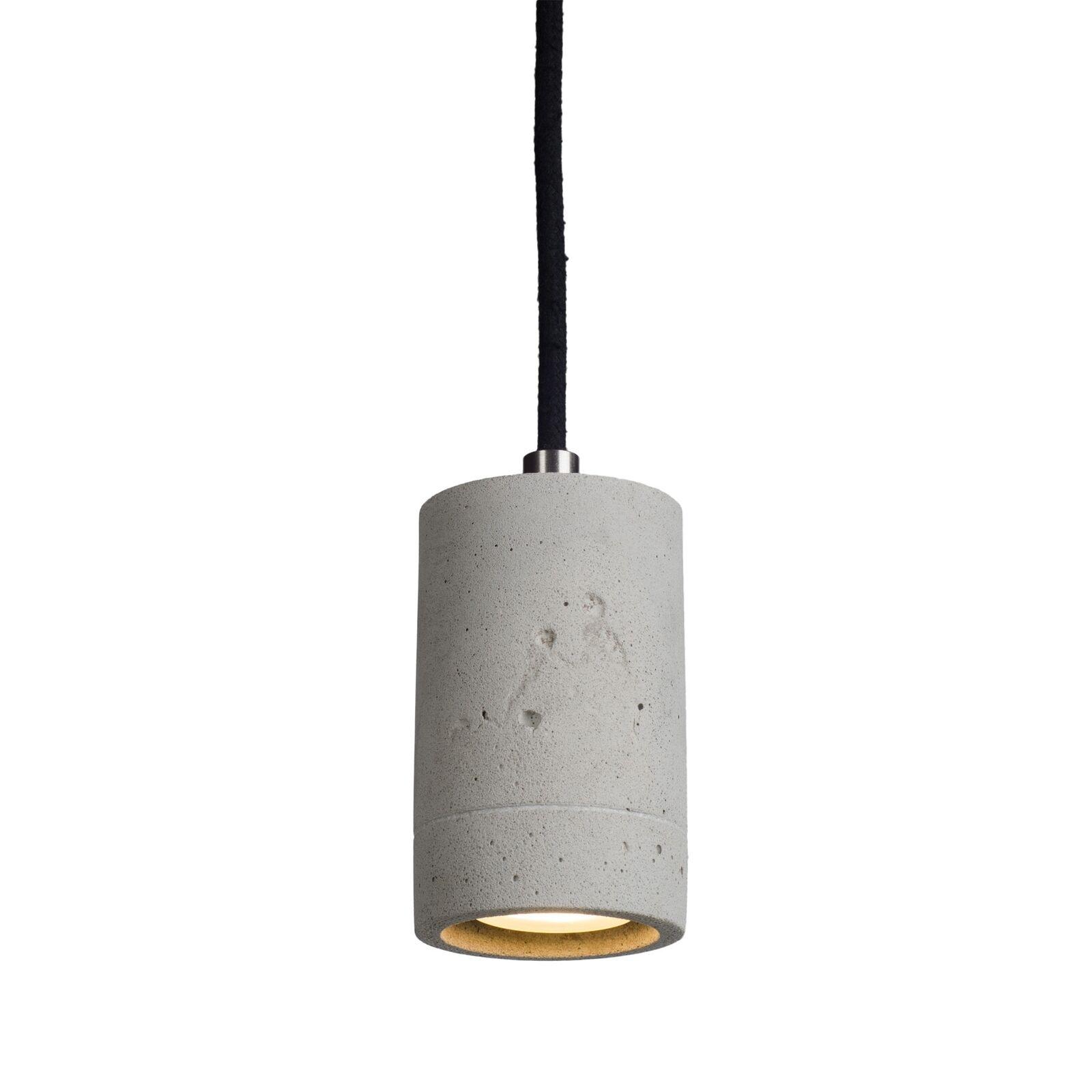 KALLA 11 Pendelleuchte Beton natur, Kabel schwarz, mit OSRAM LED 4,3W 230V GU10