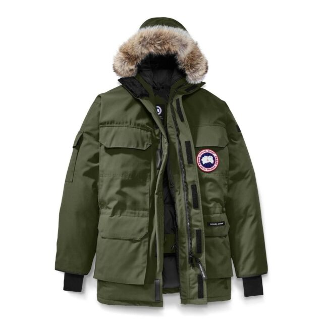 63dd797cff2b Canada Goose Mens Expedition Parka Coat Military Green 4565M Size S (Small)