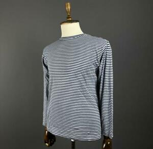 Men Lacoste Izod Striped Crew Neck Long Sleeve Jumper Pullover Size S