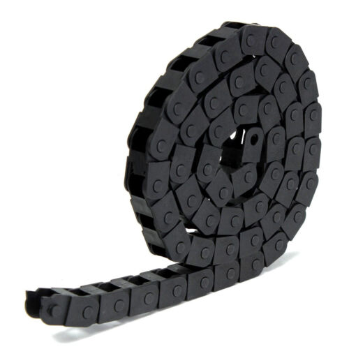 """1M 1000mm 40/"""" Black Long Nylon Cable Drag Chain Wire Carrier R18 10mm x 10mm"""