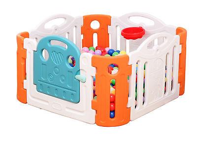 Bunte Zaunelemente Baby Laufstall Kinderzaun GartenSpielzeug Draussen Spielhaus.