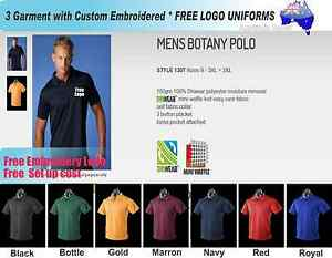 3 Custom Work Polo Shirts With Your Embroidered Team Uniforms Hi Vis