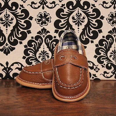 Wee Squeak Brown Boys Loafer Dressy Squeaky Shoes RUNS BIG, Sizes 3, 4, 5, 6, 7