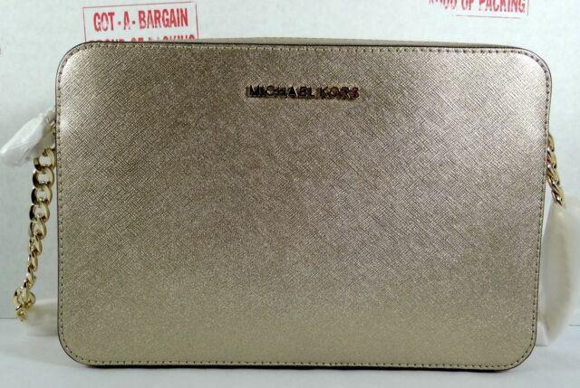 michael kors saffiano leather jet set large ew crossbody bag in pale rh ebay com