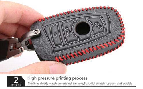 BMW Key Holder Fob Leather Case//Cover M Sport Black /& Red