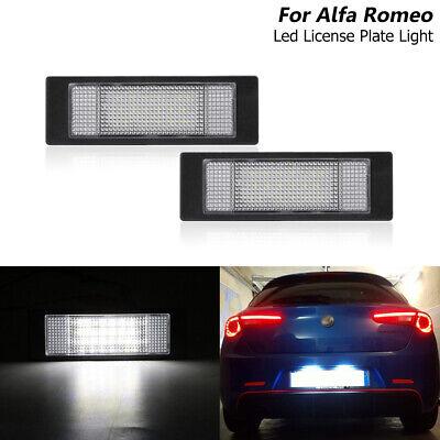 Fits For Alfa Romeo 147 156 159 166 Brera Gt Spider Led License Plate Light Lamp Ebay