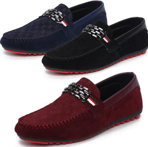 fashion mens suede slip on loafers sneakers moccasin