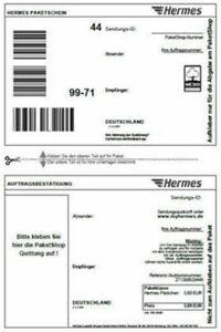Details Zu 25 Original Hermes Etiketten Paket Aufkleber Für Den Online Druck Neu Ovp