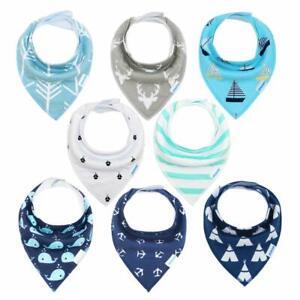 Baby-Bandana-Dribble-Bibs-adorent-bavoirs-pour-ecoulement-de-bave-et-Dentition-8-Pack-Super-doux