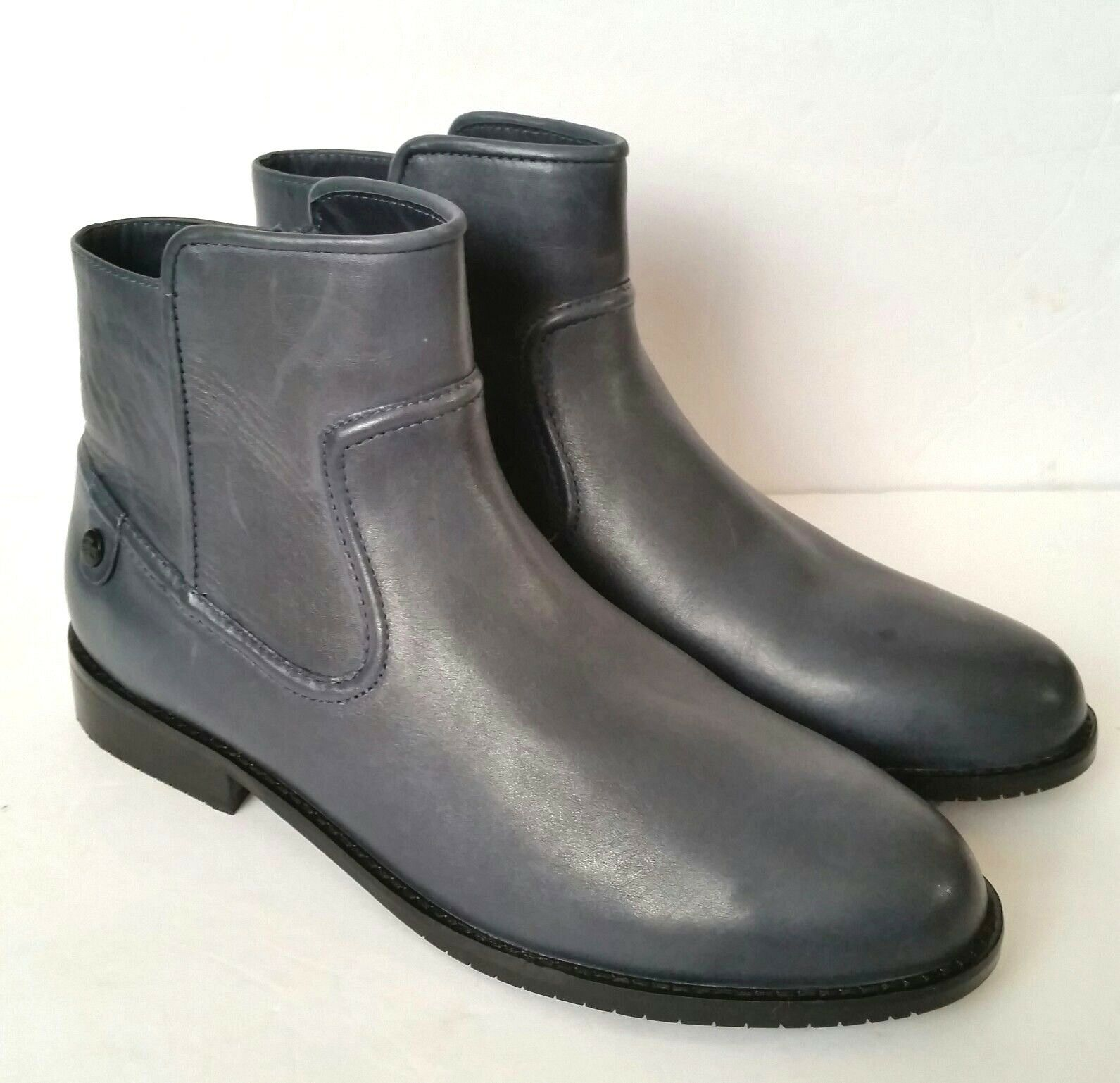 Lacoste rosolinn Marina Cuero Tobillo botas para mujer 8.5 40 Corto Equitación Nuevo