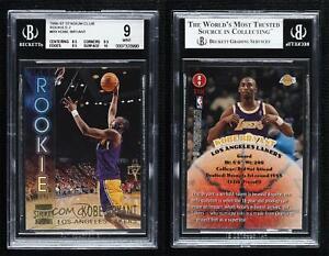 1996 Topps Stadium Club Rookies Series 2 #R9 Kobe Bryant PSA 9 MINT Rookie Card