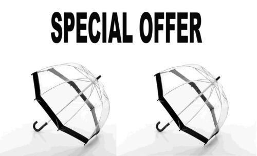 Fulton Funbrella Kinder Regenschirm Schwarzer Saum 2er Set