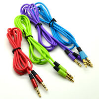 3.5mm Jack Plug To Plug Male Cable Audio Lead For Mobile iPhone iPod Stereo Audi
