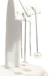 Freshwater-White-Pearl-Threader-Earrings-Sterling-Silver