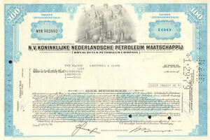 Royal-Dutch-Petroleum-Company-gt-Netherlands-N-V-oil-stock-certificate-share