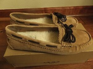 f8bdc3ded31 Size 5 UGG Womens MEENA Warm Slip On Loafers Shoes Chestnut ...