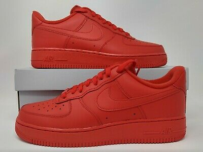 Nike Air Force 1 '07 LV8 1 One University Red Triple Red Red October CW6999 600   eBay