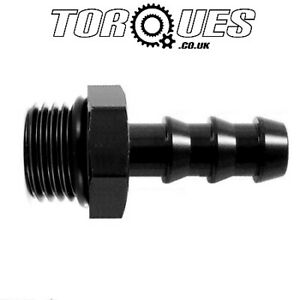 AN-6-AN6-ORB-6-9-16-034-UNF-Male-To-8mm-5-16-034-Barb-Adapter-Fitting-In-Black
