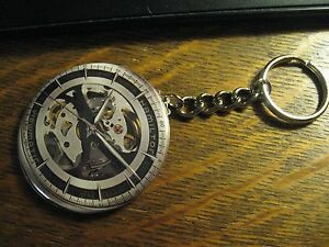 Hamilton-Watch-Keychain-Repurposed-Magazine-Ad-Backpack-Purse-Clip-Ornament