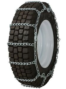 11 24 5 11r24 5 Tire Chains 7mm Link Cam Snow Traction Commercial