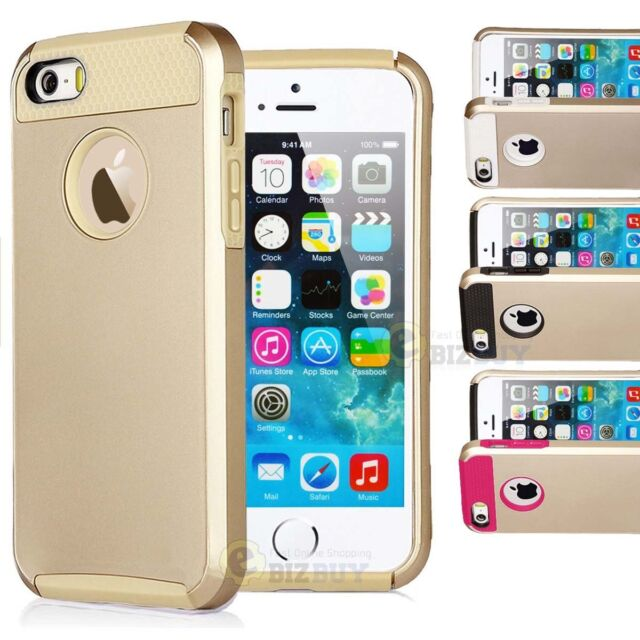 For iPhone 6/ 6s/ 6 Plus/ 6s Plus Gold Hybrid Shockproof Hard Rugged Cover Case