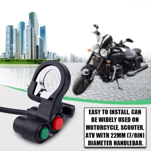"7//8/"" 22mm Motorcycle Handlebar Turn Signal Light Indicator On Off Push Switch BT"