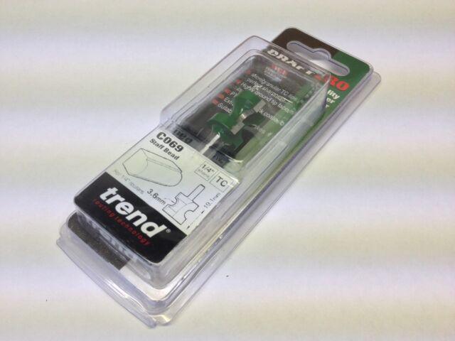 Trend C070X1//4TC Craft Pro Routeur Cutter Staff bead 5.2 mm RAD x 19.1 mm Cut