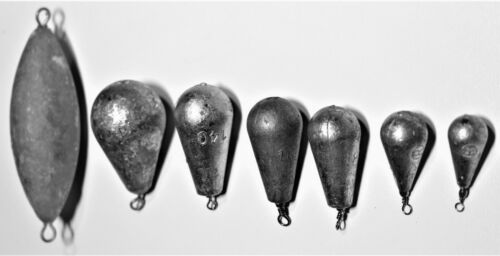 PEAR BOMB FISHING SINKERS 25g//40g//80g//100g//140g//250g//445g PROFESSIONAL MADE