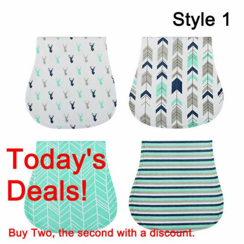 4 Pack Cotton Bibs Baby Burp Cloths Newborns Soft And Absorbent Towels