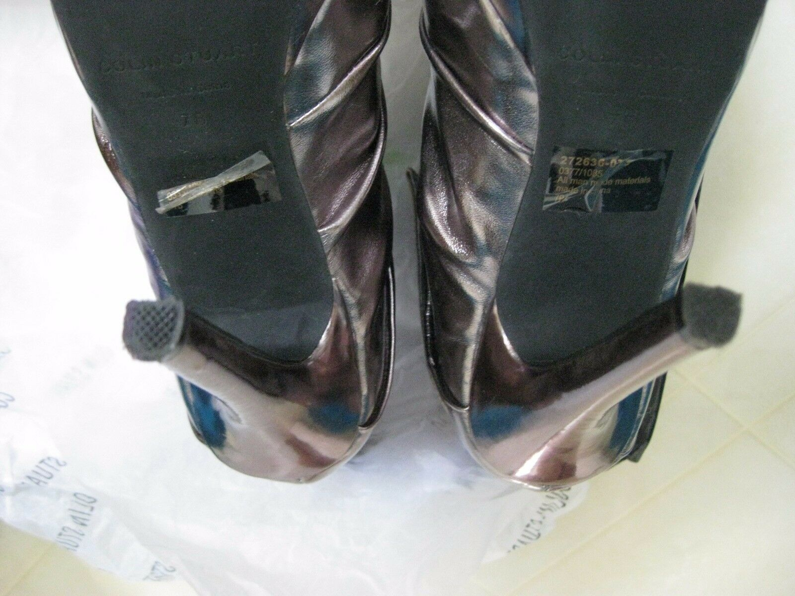 Colin Stuart Pewter Front Front Front Zip Ankle Stiefel   Heels   7B   Worn 1x e5cc16