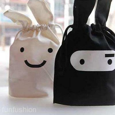 Cartoon Cloth Pocket Sundry Bag Drawable Carry-On Storage Bag Portable Pouch New