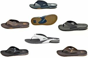 Reef-Men-039-s-Fanning-Bottle-Opener-Black-Brown-Gray-amp-White-Sandal