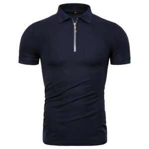 Quality-100-Cotton-Polos-Men-Solid-Slim-Fit-Stand-Collar-Short-Sleeve-Shirt-Men