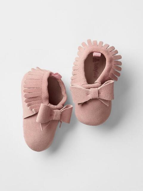 Brown Fringe Gladiators Moccasins Sandals GAP Baby Girl Size 0-3 Months Gold
