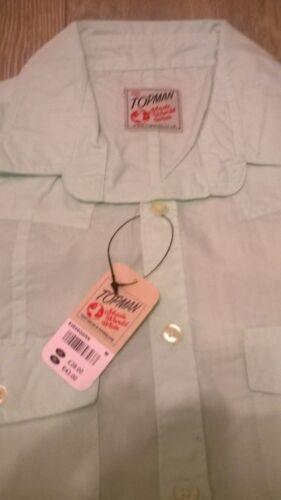 TOPMAN Mens light green trendy smart shirt Size S//M//L  NEW TOPSHOP