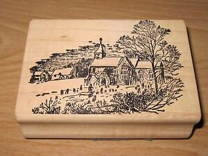 Rubber Stamp Country Church by Magenta NEW 3 1/2""